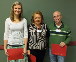 Employee Scholarship Recipients: Lynsie Bradley, Anita Gonzalez and Robert Guise.