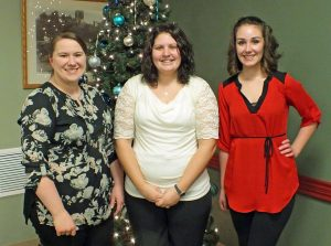 Children of Allegan Healthcare Group Staff Scholarship Recipients (L to R): Jaime Manne, Abigail Kramer and Amanda Cole. (Not pictured: Kassandra Mollitor, Amanda Torres and Carrie Trimpe.)